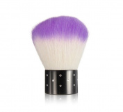 niceeshop(TM) Mini Rhinestones Cosmetic Nail Art Dust Remover Face Brush-Purple & White