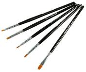 Micro Trader 5 Nail Art Acrylic & UV Gel Flat Brush Size
