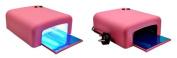 Puregadgets(c) Pink Professional Salon Quality 36W UV Nail Dryer Lamp Light Gel Curling Timer 4 X 9W Bulbs Nailart