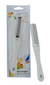 6E 17cm Foot Scraper with White Plastic Handle