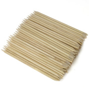 100 x Wooden Double Ended Cuticle Pushers
