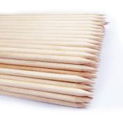 BeautyLife 100X Sticks-Nail Clean Orange Wood Stick Cuticle Pusher