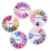 Cheeky 5 Wheels Super Set of Nail Art Fimo Slices Fimo Decal Pieces Accessories - MULTI PACK of 3