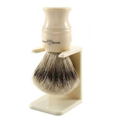 Edwin Jagger Super Badger Hair Shaving Brush and Stand