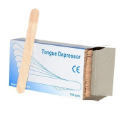 x 100 Wax sticks (1 pack) Spatulas / Tongue Depressors ~ Wooden Great Quality 15cm WAX Sticks spatulas