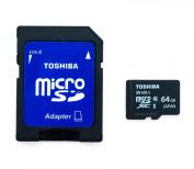 Toshiba 64GB MICRO SD XC MEMORY CARD CLASS 10 UHS-I 64 GB HighSpeed