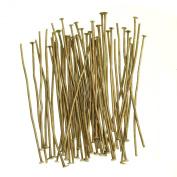ILOVEDIY 100pcs Antique Bronze Head Pins Needles Accessories for Jewellery Making 35mm