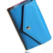 EOZY 1pc New Multi Propose Crown Envelope Wallet Bag Case Purse Pouch for Samsung Galaxy S2,S3,iphone 4,4S,5 Card Holder PU Leather Flip 14cm