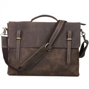 TOP-BAG® Leather Men Laptop Bag Briefcase Messenger Bag,N3122