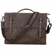 TOP-BAG® Leather Men Laptop Bag Briefcase Messenger Bag,N3122