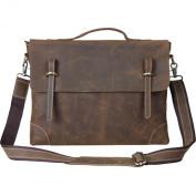 TOP-BAG®Men Leather Laptop Bag Briefcase Messenger Bag,N3122