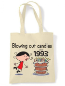 Blowing Out Candles Since 1993 21st Birthday Tote / Shoulder Bag