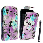 SAMSUNG GALAXY ACE S5830 S5830i S5839i PU LEATHER MAGNETIC FLIP CASE COVER POUCH +GUARD+STYLUS
