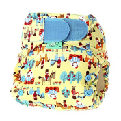 Tots Bots 3.6-16kg Easy Fit Hook and Loop Nappy Humpty Print