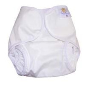 Nature Babies Classic Wrap Washable Nappy with Velcro Fastening - White