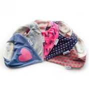 Lovjoy Bandana Bibs - Pack of 5 Girls Designs