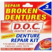 THREE PACKS of Dentemp Denture Repair Kit