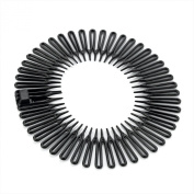Pair of Black Flexi Combs Hair Bands Sports Headbands