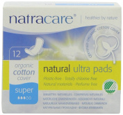 Natracare Organic Ultra Super Pads with Wings - Pack of 12