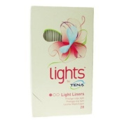 THREE PACKS of Tena Lights Liners 28 [Personal Care] [Personal Care]