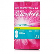 Carefree Cotton Extract Breathable Pantiliners