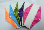 Cheeky Mama Bamboo Minkee Cloth Washable Sanitary Pads Towels - 5 pack