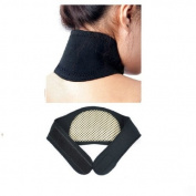 Homgaty Black Self Heating Neck Wrap Heat Relief Collar Strain Brace Support Strap Pain