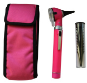 ENT Compact Diagnostic Otoscope. Pink