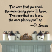 Dr Seuss The More That You Read Quote Decals Wall Sticker