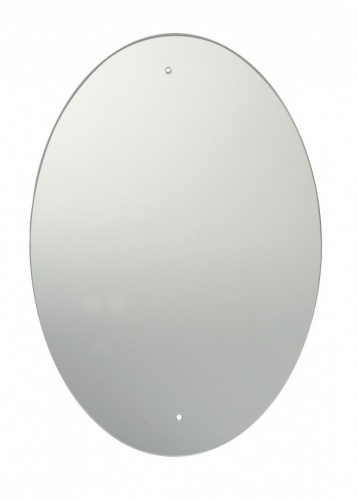 60 x 45cm oval bathroom mirror with drilled holes chrome for Mirror 45 x 60