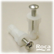 Roca Pair of Top Fix toilet Seat Screws and Bushes for Fixing Seats to Pan