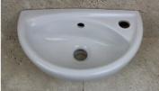 Pinara Mini Compact Cloakroom Wall Hung Basin - Small Sink- 395x233mm