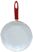 Benross Anika 64060 28 cm Ceramic Frying Pan with Soft Grip Handle, Red
