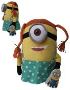 Mark Braids Minion 29cm Gru's Minions Soft Toy Doll Plush Despicable Me 2 Minions Yellow Henchmen Monster