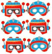 6 x Kids Foam Space Robot Masks - Party bag fillers or Fancy Dress