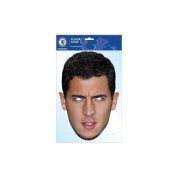 Chelsea F.C. Mask Hazard- Eden Hazard face mask- high quality durable card- with eye holes and elastic strap- approx 300mm x 210mm (average face size)- on a header card- official licenced product