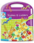 Childrens Travel Traditional Game Magnetic Set Snakes & Ladders