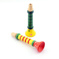 2pcs Baby Kids Children's Wooden Horn Hooter Trumpet Basic Blow Instruments Toys Random Colours Green/Yellow/Blue/Red