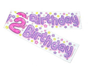 2ND BIRTHDAY BANNER GIRL (EXP PLASTIC) 2.7m LONG