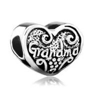 Charm Bead Grandma Heart Stone Pugster Charms Fits Pandora