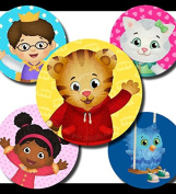 60 Precut 2.5cm DANIEL'S TIGER neighbourhood Bottle Cap Images B