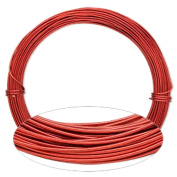 Red Aluminium Wire 18 Gauge Round Wrapping Jewellery Craft 14m Coil