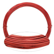 Red Aluminium Wire 20 Gauge Round Wrapping Jewellery Craft 14m Coil