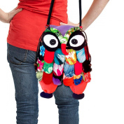 TOP Asian Souvenirs Owl Messenger Bag Adorable Patchwork.