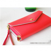 HuaYang Mini ID Credit Card Cash Cellphone Envelope Purse PU Wallet Handbag Pouch