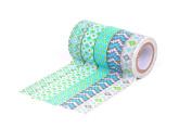 HIART Repositionable Washi Tape, Southwest Sizzle, Green, Set of 5