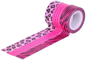 HIART Repositionable Washi Tape, Girl`s Collection A Pink Diva, Set of 3
