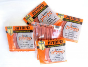 5 Bag of Wicks ( 50pc ) Jewish Shabbat Menorah Lamp Oil Wicks Made in Israel
