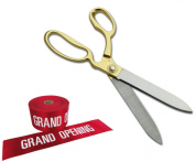 27cm Ceremonial Ribbon Cutting Scissors & Ribbon for Grand Openings