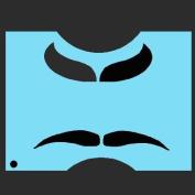 StencilEyes - QuickEZ/Moustache 2 Face Design Stencil